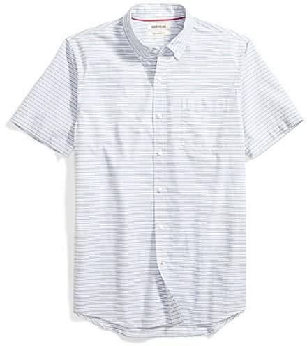 0b75acdcae354 Amazon Brand Men's Slim-Fit Short-Sleeve Horizontal Stripe Shirt
