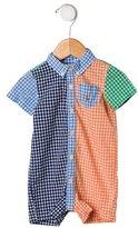 Ralph Lauren Boys' Gingham Short Sleeve All-in-One
