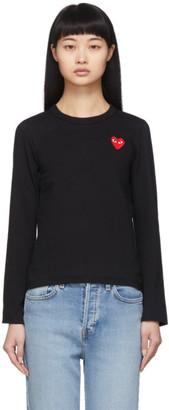 Comme des Garcons Black Heart Patch Long Sleeve T-Shirt