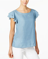 Calvin Klein Jeans Flutter-Sleeve Top