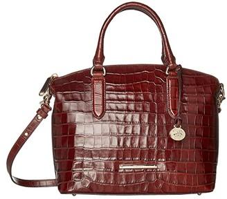 Brahmin Trance Duxbury Satchel (Cognac) Satchel Handbags
