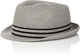 Barneys New York MEN'S STRAW FEDORA
