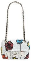 Moschino 'Small Letters' Floral Quilted Shoulder Bag - White