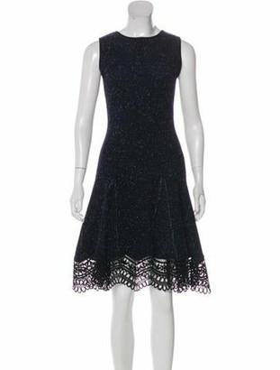 Oscar de la Renta Wool Knee-Length Dress w/ Tags Blue