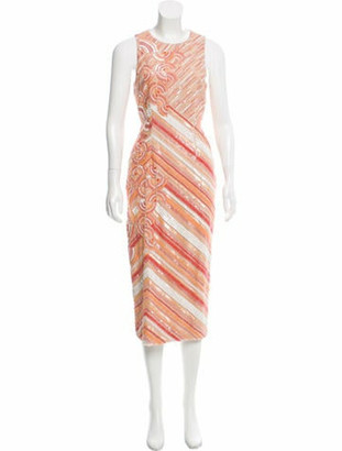 Bibhu Mohapatra 2016 Embellished Dress w/ Tags Coral