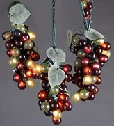 Kurt Adler Indoor/Outdoor UL 100-Light Micro Bulb 5 Cluster Multi Grape Light Set