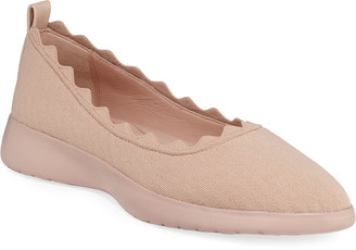Taryn Rose Dasha Knit Slip-On Ballet Flats