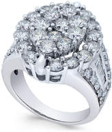 Macy's Diamond Oval Cluster Engagement Ring (4 ct. t.w.) in 14k White Gold