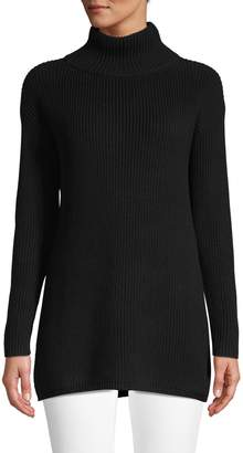Lord & Taylor Petite Eyelet-Sleeve Turtleneck Sweater