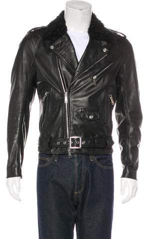 DSQUARED2 Leather & Lamb Jacket