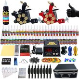 Solong Tattoo® Complete Tattoo Kit 2 Pro Machine Guns 54 Inks Power Supply Foot Pedal Needles Grips Tips Carry Case TK253