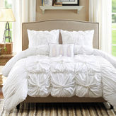 JCPenney Madison Park Maxine 4-pc. Ruched Duvet Cover Set