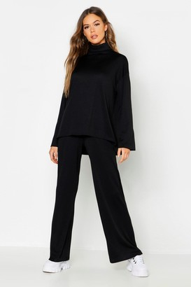 boohoo Roll Neck T-Shirt + Trouser Co-Ord