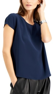 Alfani Solid-Color Scoop-Neck Top, Created for Macy's