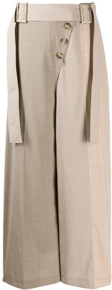 REJINA PYO Belted Fared Trousers