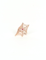 Campise Ruby Or Sapphire Center Web Ring