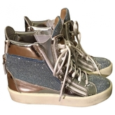 Giuseppe Zanotti Silver Leather Trainers