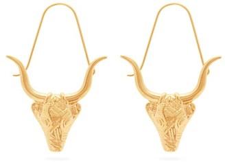 Givenchy Taurus Zodiac Hoop Earrings - Womens - Gold