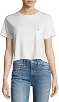 Mother T-Time Cropped Pocket Tee, White
