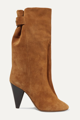 Isabel Marant Lakfee Suede Boots - Light brown