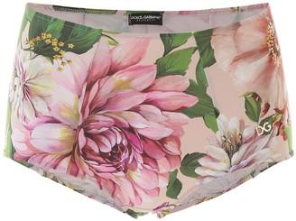Dolce & Gabbana Floral Printed Bikini Bottoms
