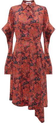 J.W.Anderson Tab Sleeve Asymmetric-Hem Dress