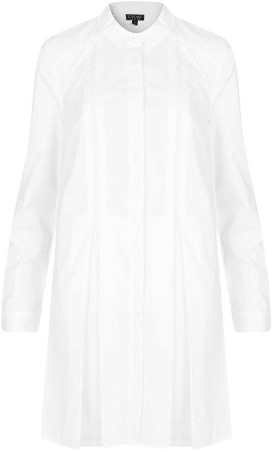 Topshop Pleated Shirt Dress