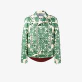 Gucci foliage motif leather jacket