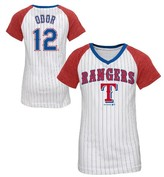 MLB Texas Rangers Girls' Rougned Odor Pinstripe T-Shirt Jersey