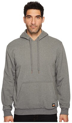Timberland Double-Duty Hooded Pullover (Charcoal Heather) Men's Long Sleeve Pullover