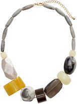 H&M Short Necklace - Gray/yellow - Ladies