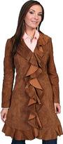 Scully Women's Knee Length Boar Suede Ruffle Coat L504