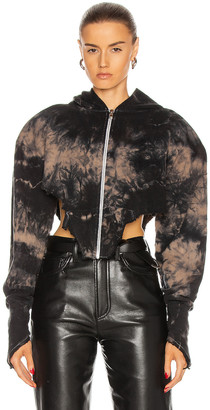 SAMI MIRO VINTAGE for FWRD V Cut Zip Up Hoodie in Tie Dye | FWRD