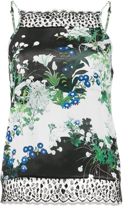 Givenchy Sleeveless Lace Floral Printed Cami Top