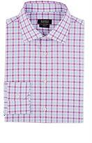 Barneys New York Men's Plaid Shirt-PINK