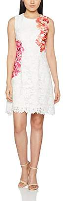 APART Fashion Women's Fashion: Coral-Reef & Lace Sleeveless Dress - Multi-Coloured