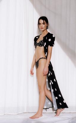 Peony Swimwear Poolside Polka-Dot Cotton-Blend Maxi Dress