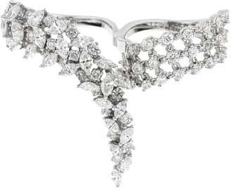 YEPREM White Gold Diamond Chevalier Wedding Ring