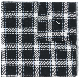 Givenchy Checked Logo Scarf