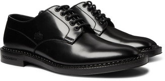 Dolce & Gabbana Embossed Leather Derby Shoes