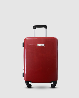 Jett Black Carbon Red Series Carry On Suitcase