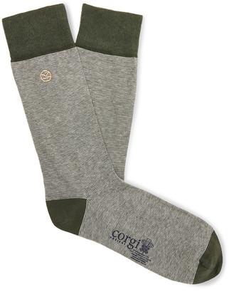 Kingsman Striped Cotton-Blend Socks
