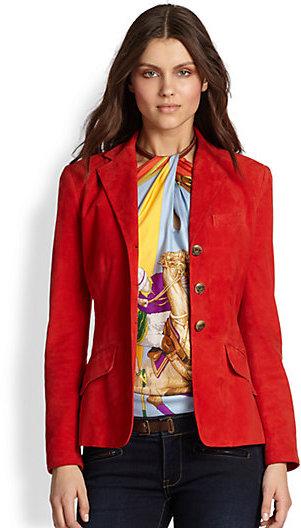 Ralph Lauren Blue Label Suede Riding Jacket