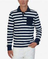 Nautica Men's Slim-Fit Striped Long-Sleeve Polo