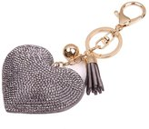 Key Chain, FTXJ Love Rhinestone Tassel Keychain Key Ring