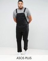 Asos PLUS Chino Overalls In Black
