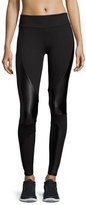 Lanston Dax Moto Performance Leggings, Black