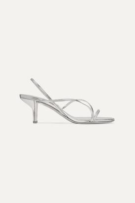 Nicholas Kirkwood Leeloo Metallic Leather Slingback Sandals - Silver
