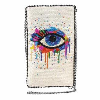 Mary Frances Eye Paint Beaded Crossbody Phone Bag