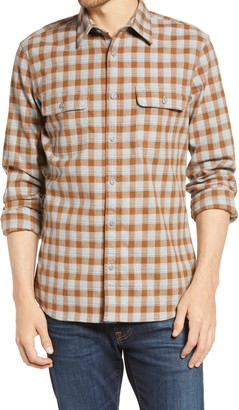1901 Trim Fit Plaid Stretch Flannel Button-Up Shirt